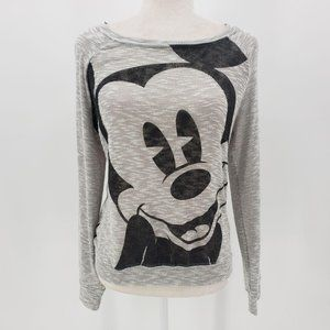 Disney Parks Gray Lightweight Mickey Mouse Sweater